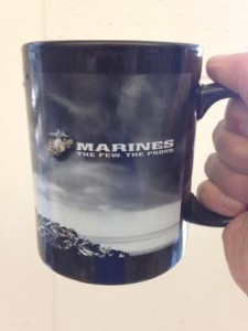 larry hochman marines coffee mug