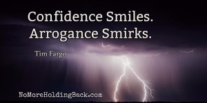 confidence arrogance